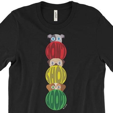 """Don't Shop, Adopt"" Traffic Light with Dogs Unisex T-Shirt"