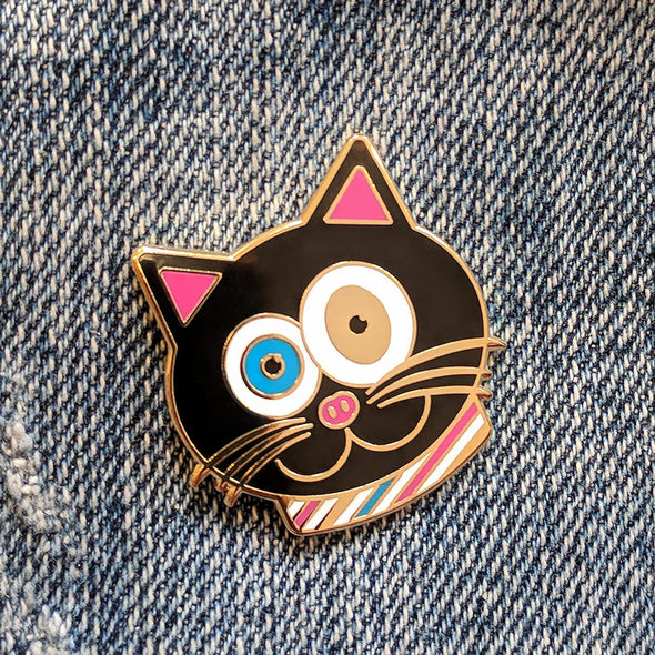 """CMYKat"" Signature Cat Enamel Pin"
