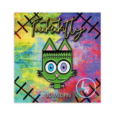 """Frankenkitty"" Frankenstein Monster Cat Enamel Pin"