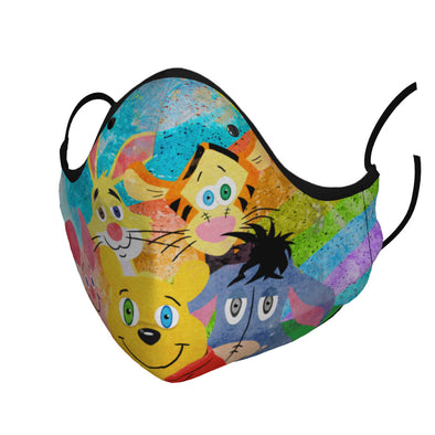 """Pooh and Friends"" Premium Face Mask"