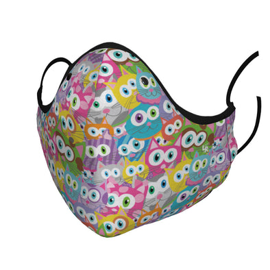 """Purrrballs"" Whimsical Cats Premium Face Mask - Ready to Ship!"