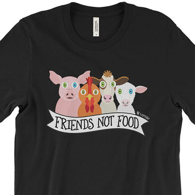 """Friends Not Food"" Vegan Unisex T-Shirt"