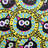 """I Love Black Cats"" Circle Badge Vinyl Sticker"