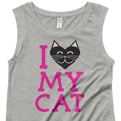 """I Love My Cat"" Cap Sleeve Shirt"