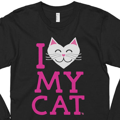 """I Love My Cat"" Unisex Long Sleeve T-Shirt"