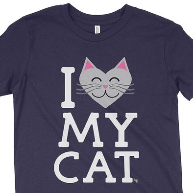 """I Love My Cat"" Kids Youth T-Shirt"