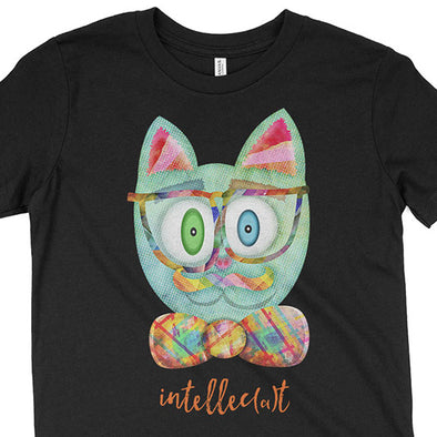 """Intellecat"" Kids Youth Cat T-Shirt"