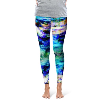 """Celestial Blue Cove"" Leggings"