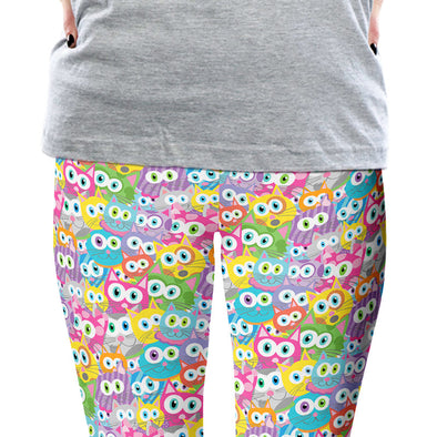 """Purrrballs!"" Whimsical Cats Printed Leggings"