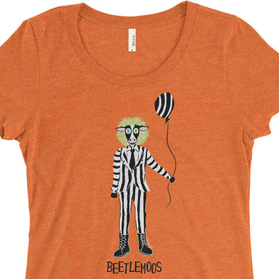 """Beetlemoos"" Halloween Cow Junior Fitted T-Shirt"
