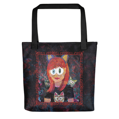 """Cat Girl"" Full Color Double-Sided Tote Bag"