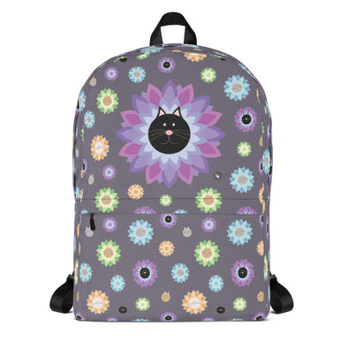 """Purrrfect Flowers"" Cat Backpack"