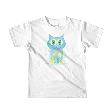"""Feeling Refreshed"" Little Kids Cat T-Shirt"