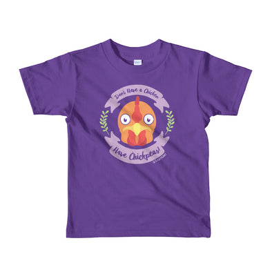 """Don't Have a Chicken, Have Chickpeas!"" Vegan Little Kids T-Shirt"