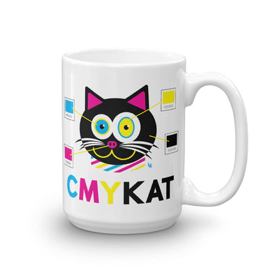 """CMYKat"" Large Cat Coffee Mug"