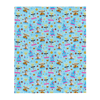 Hanukkah Animals - Throw Blanket