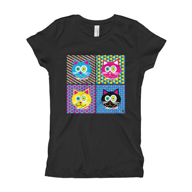 """CMYKat - 2x2"" Girl's Cat T-Shirt"