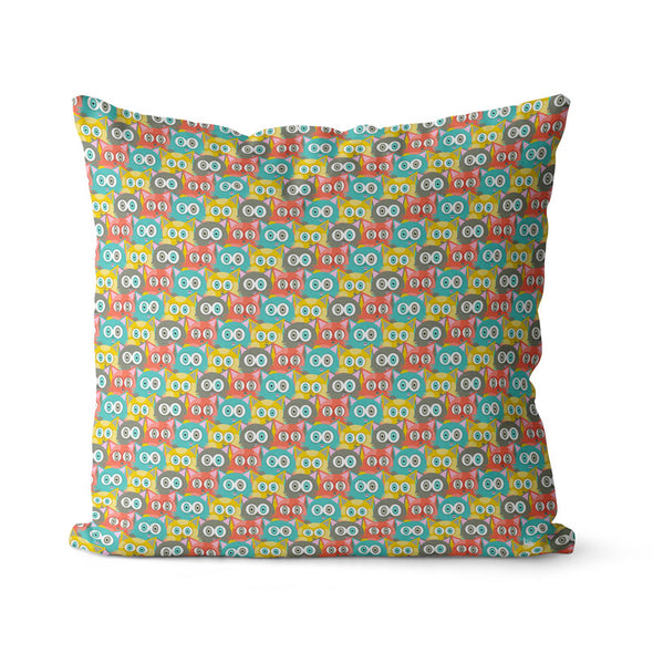 """Retro Cats"" Premium Throw Pillow Cover"