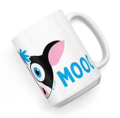 """Meow Mooo"" Large Coffee Cat and Cow Mug"