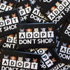 """Adopt, Don't Shop."" Rectangle Cat & Dog Pinback Button"