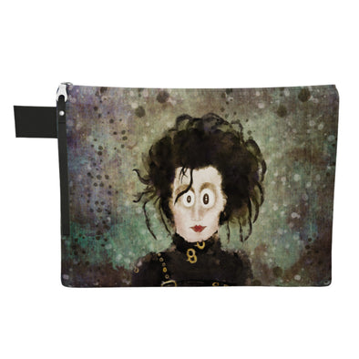"""The Original Edward"" Large Zipper Pouch - Vegan Clutch"