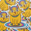 Kitty with Rainbow Glasses - Cat Die Cut Vinyl Sticker