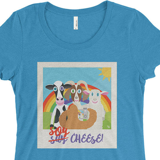 """Soy Cheese"" Junior Fitted Vegan T-Shirt"