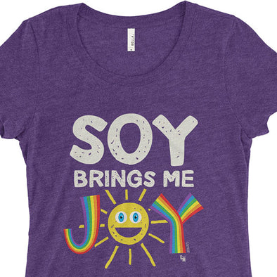 """Soy Brings Me Joy"" Junior Fitted Vegan T-Shirt"