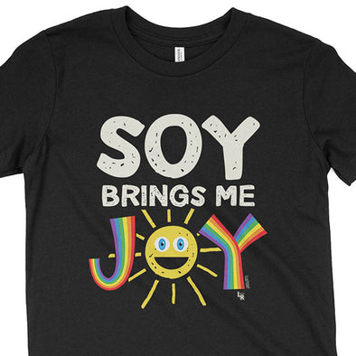 """Soy Brings Me Joy"" Vegan Kids Youth T-Shirt"