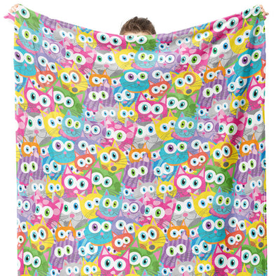"""Purrrballs!"" Whimsical Cats Throw Blanket"