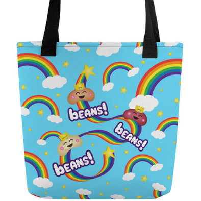 """Beans, Beans, Beans!"" Full Color Double-Sided Vegan Tote Bag"