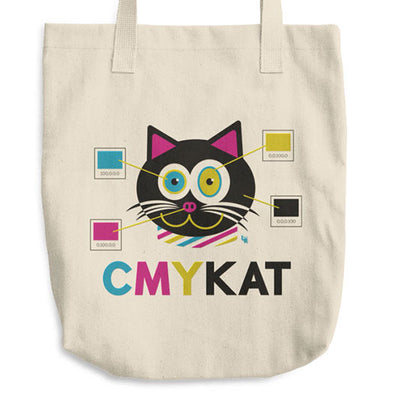 """CMYKat"" Classic Cat Tote Bag"
