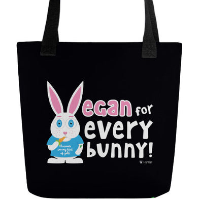 """Vegan for Everybunny!"" Full Color Double-Sided Tote Bag"