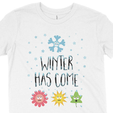 """Winter Has Come"" Kids Youth T-Shirt"