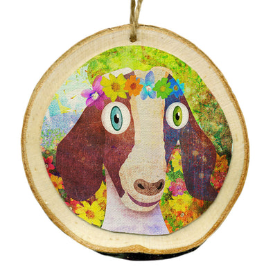 Vegan Wood Ornaments - Whimsical Animals Holiday Ornaments