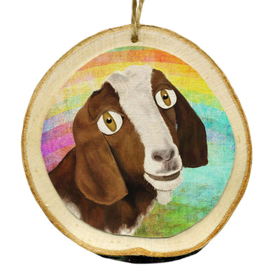 Vegan Wood Ornaments - Indraloka Animal Sanctuary Holiday Ornaments