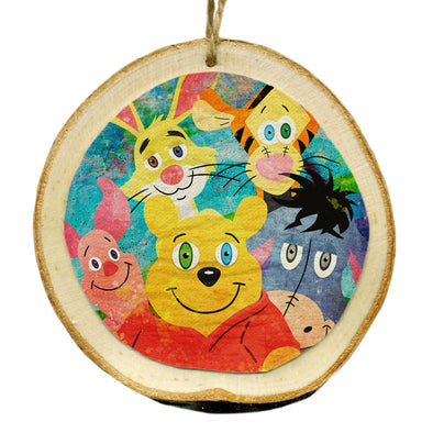 """Pooh and Friends"" Whimsical Wood Holiday Ornament"