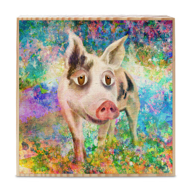Indraloka Animal Sanctuary - Whimsical Animal Portaits Art on Wood Block
