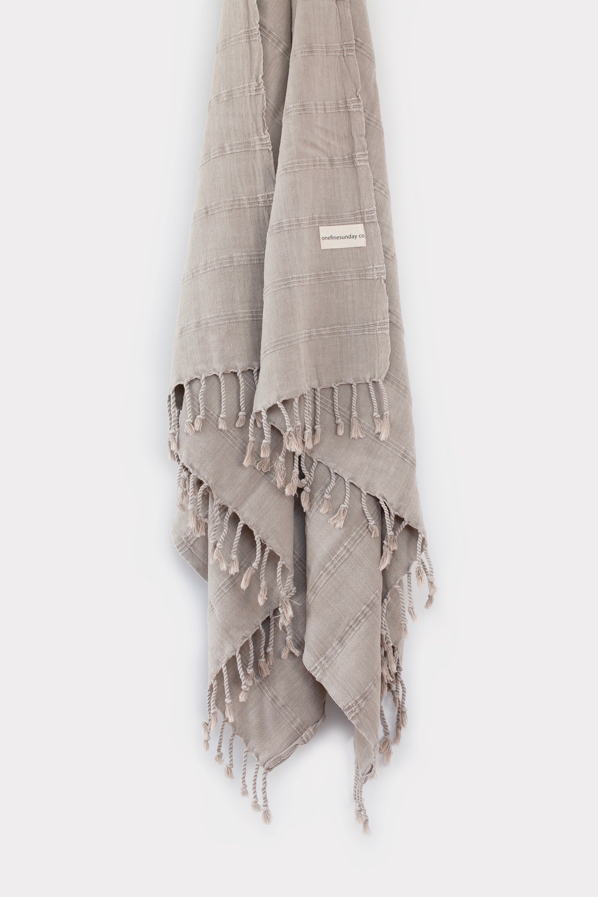 Stonewashed bamboo blend Beach & Bed Throw - Desert Sand-onefinesunday co