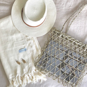 Signature Turkish Towel/Throw - Natural-onefinesunday co