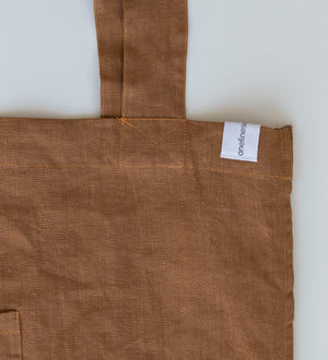 The Weekender Linen Tote - RUST-onefinesunday co