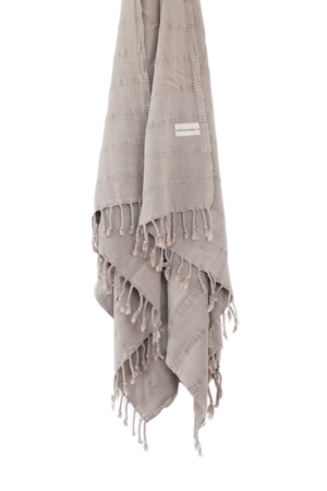 Luxe Stonewash Turkish Towel/Throw - Desert Sand-onefinesunday co