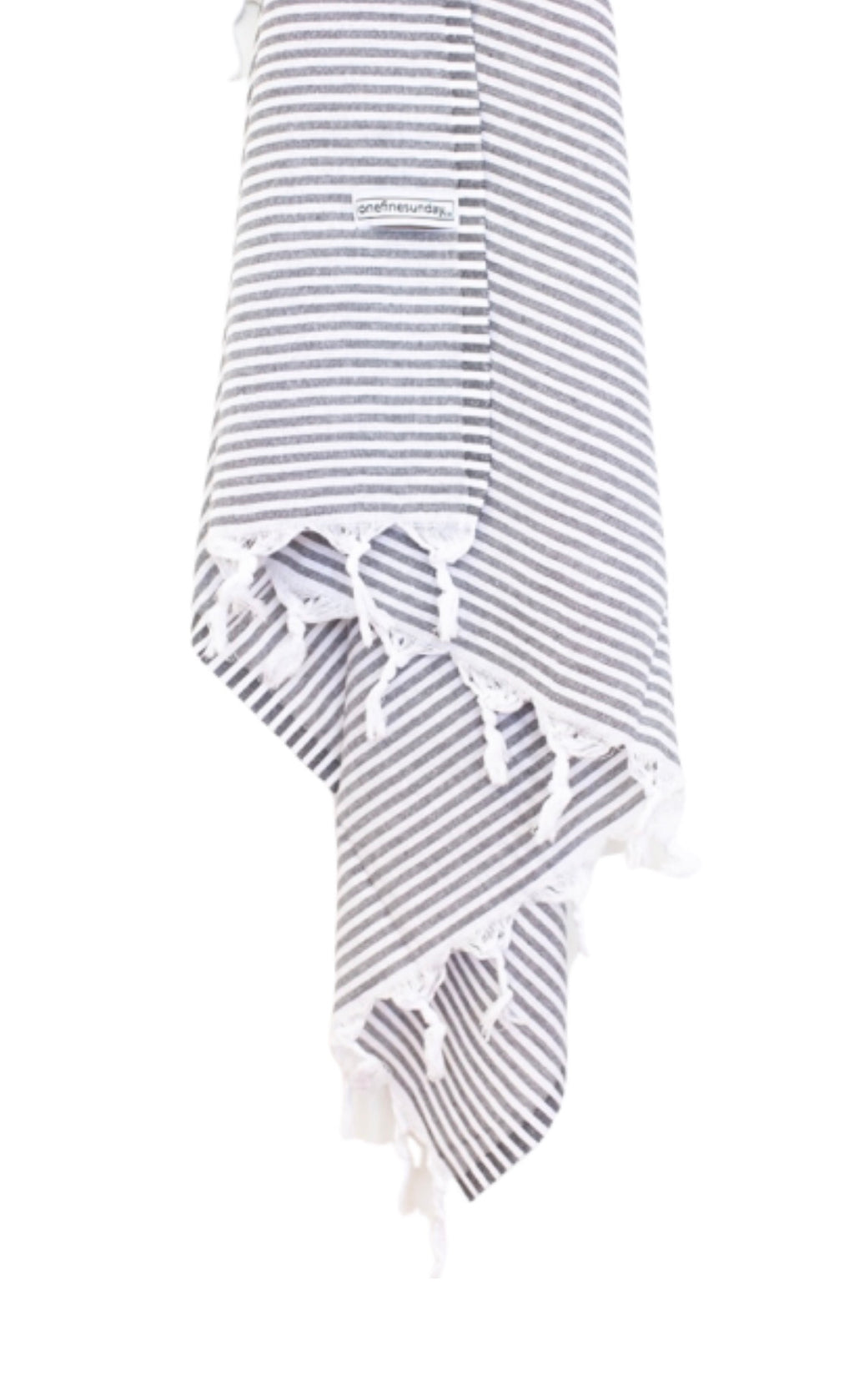 Classic Turkish Towel - Thin Striped Dark Grey-onefinesunday co