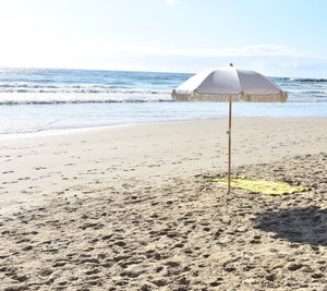 Palm Springs Beach Umbrella - Vintage White-onefinesunday co