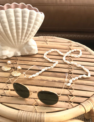 Beaded Sunglass Chain - Shell-onefinesunday co