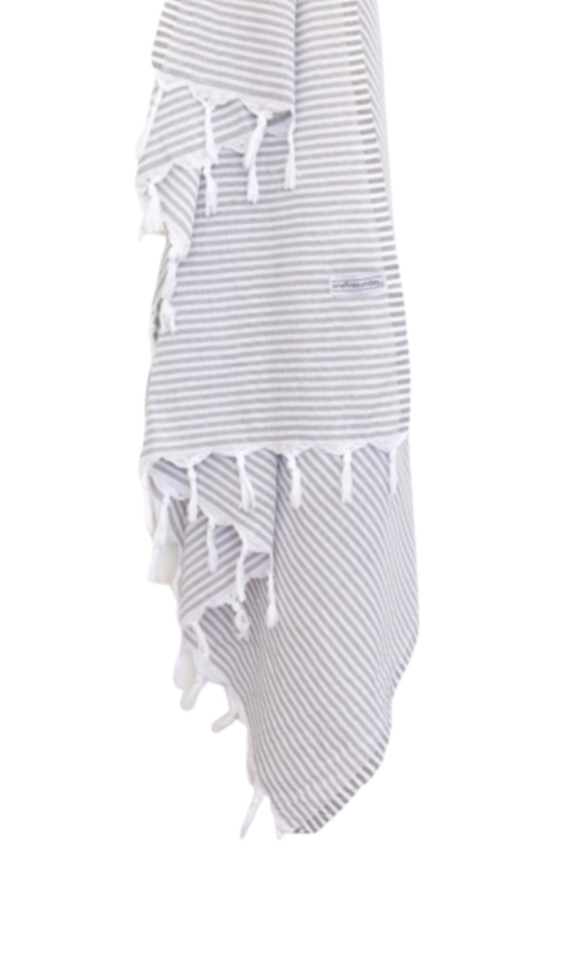 Classic Turkish Towel Thin Striped - Light Grey-onefinesunday co