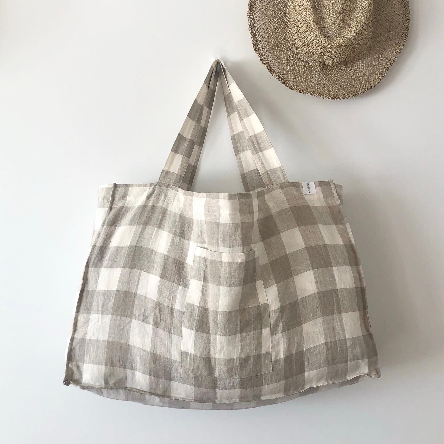 The Weekender Linen Tote - FLORENCE-onefinesunday co