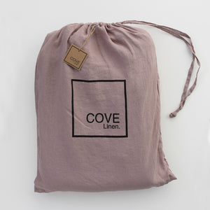Cove Linen Bed cover & pillow case set - Dusk-Linen bedding-onefinesunday co