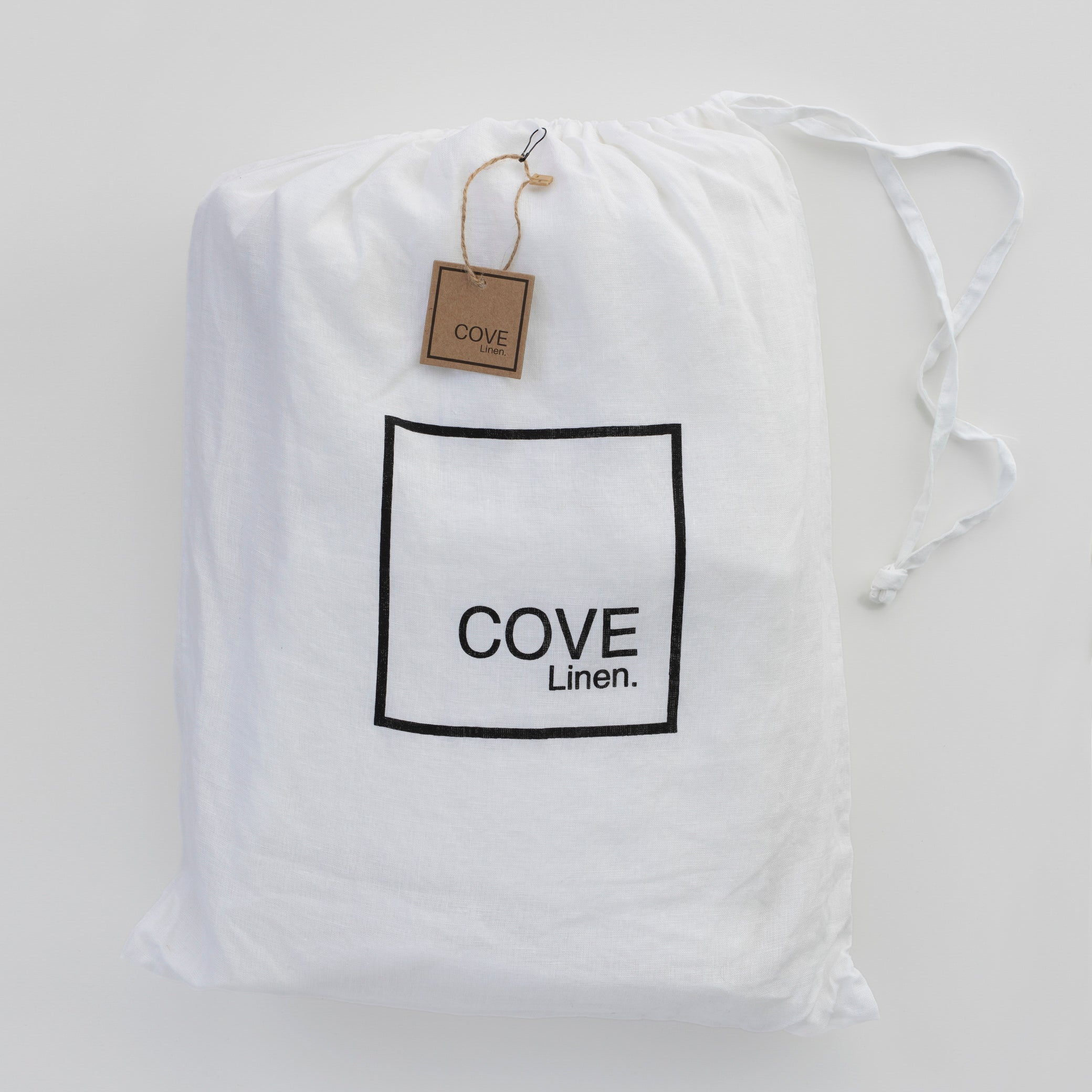 Cove Linen Bed cover & pillow case set - Vintage White-onefinesunday co