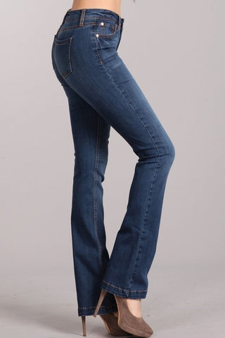Stacey Mid Wash Denim - Brooke & Kat Boutique